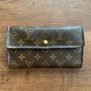 "Louis Vuitton Monogram ""LV"" Long Wallet"